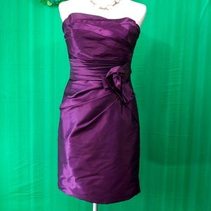 """LOVE"" Purple Strapless Cocktail Dress"
